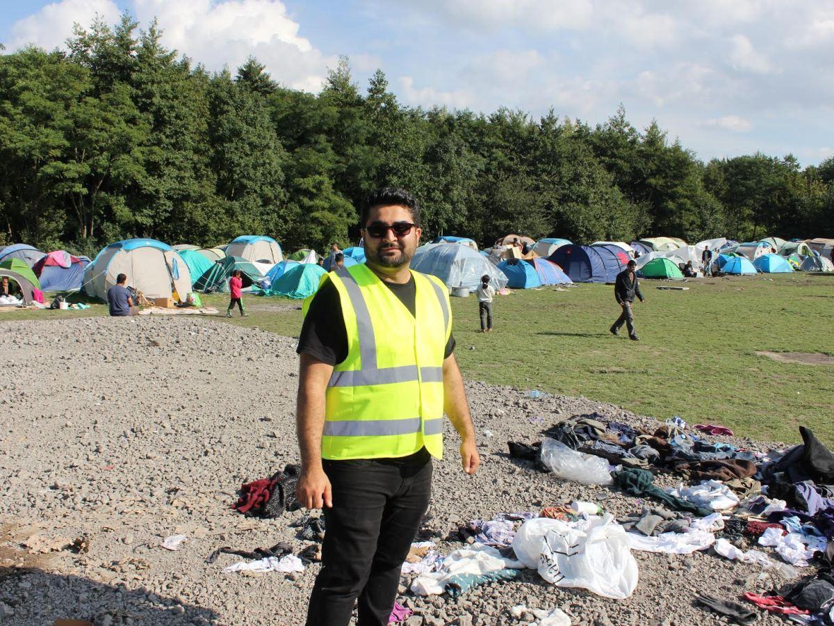 Alan Ahmad in Dunkirk refugee camp