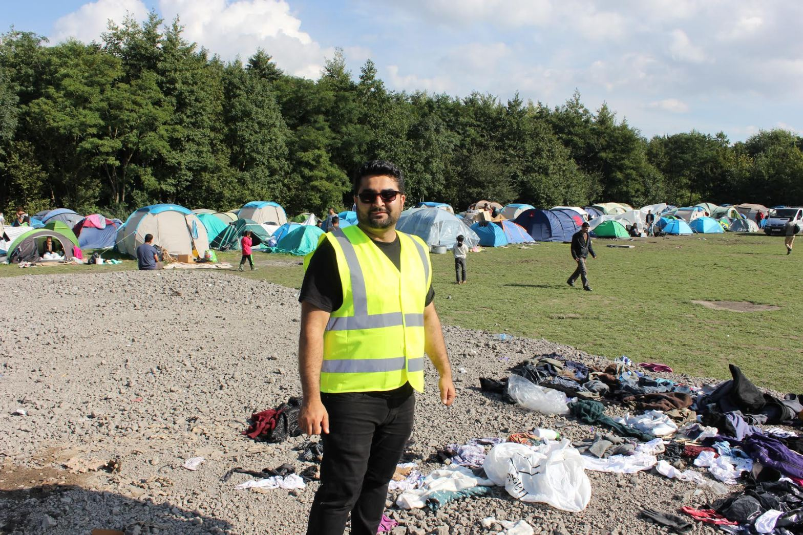 Alan Ahmad in Dunkirk refugee camp