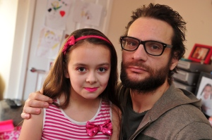 Adam Scaife, west Hull, after 7 years of prison is working hard to turn his life around. He has been told by the council he can't stay in the same house as his daughter despite doing everything he needs to do, Adam is pictured with his daughter Nimrah, 10. Picture: Peter Harbour