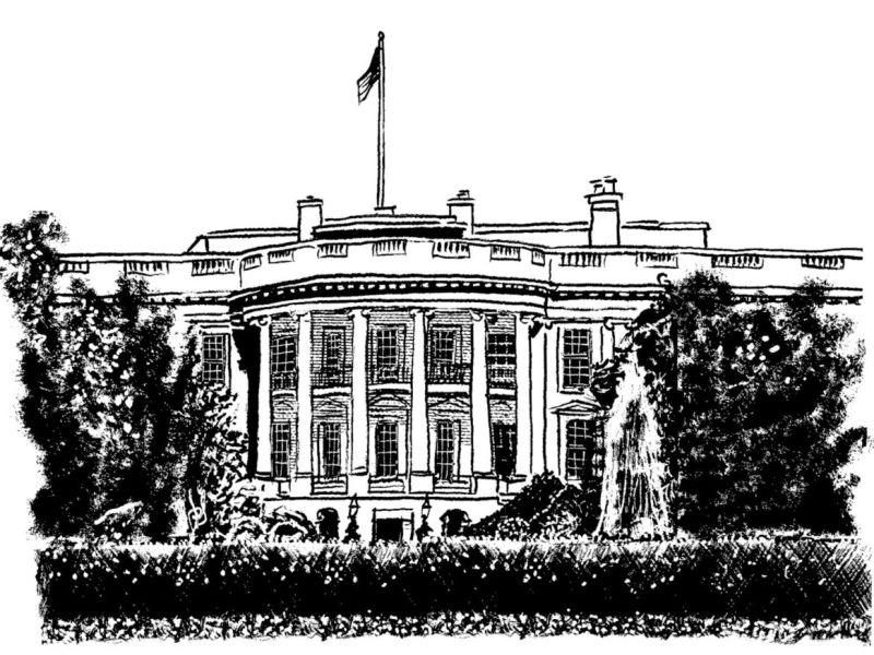 Tom Bachtell / The New Yorker illustration of the White House